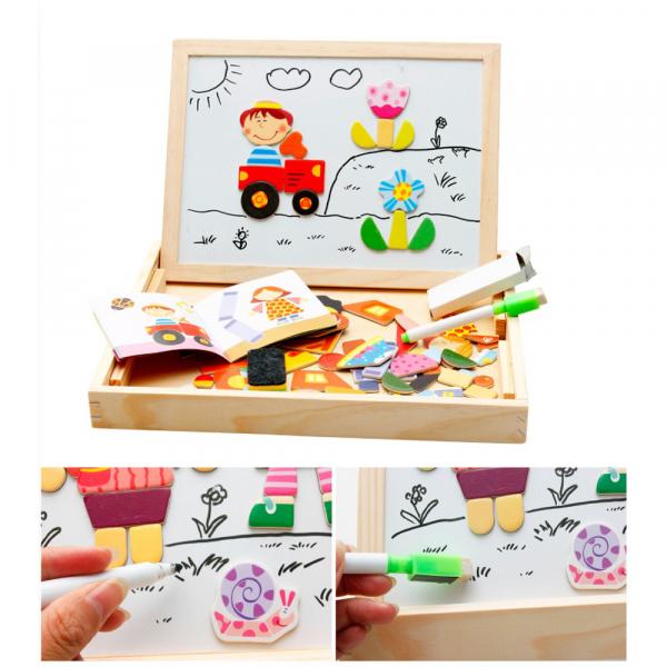 Tablita magnetica educativa, cu 3 functii: scriere cu creta, cu marker-ul și tabla magnetica [3]