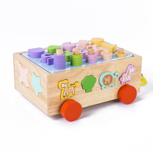 Jucărie din lemn - sortator numere, forme, animale [2]