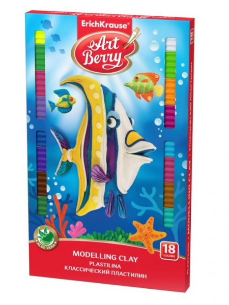 Plastilină ArtBerry cu Aloe Vera, Set 18 culori + cuțit [0]