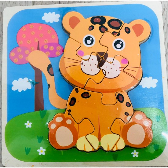 Puzzle din lemn 3D Tigru [2]