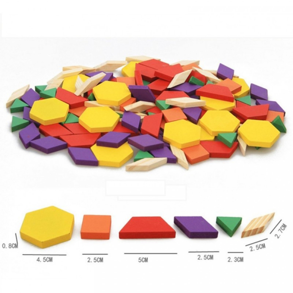 Puzzle Tangram din lemn 250 piese [2]