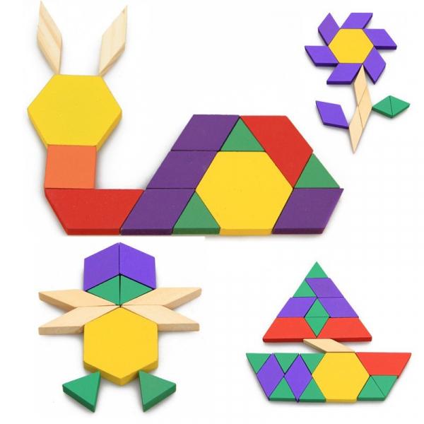 Puzzle Tangram din lemn 250 piese [0]