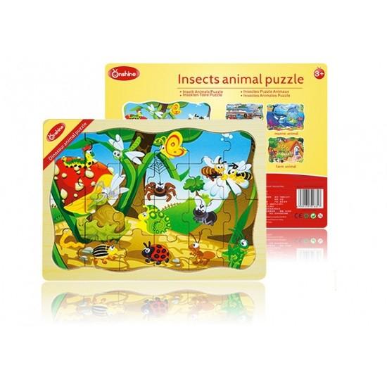 Puzzle din lemn clasic Insecte [2]