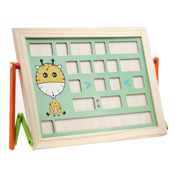 Tablă magnetică educativă din lemn cu litere și cifre [2]
