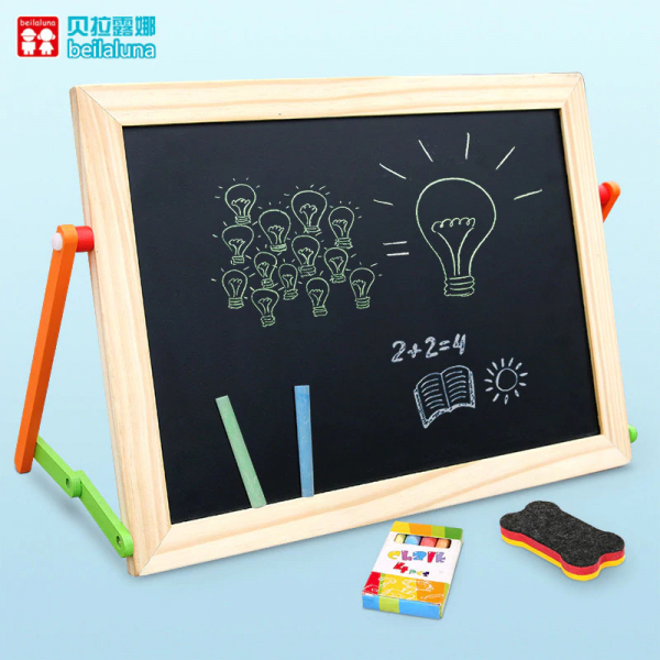 Tablă magnetică educativă din lemn cu litere și cifre [3]
