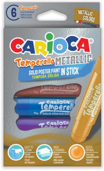 Creion-tempera Temperello Metallic 6/set [0]