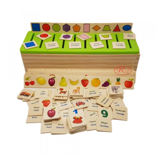 Joc sortator Montessori 88 piese in limba romana [0]
