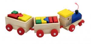 Trenulet și cuburi din lemn [2]
