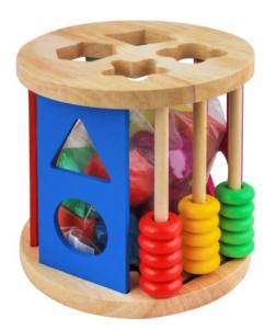 Joc din lemn 2 în 1 Sortare și Numaratoare [0]