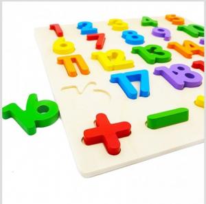 Puzzle din lemn Cifre și Operații matematice [1]
