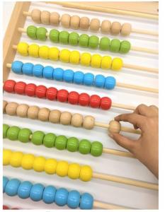Numărătoare Montessori mare din lemn (60H x 30l x 4.19 cm) [0]