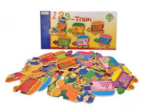 Puzzle Trenuleț din lemn Cifre [0]