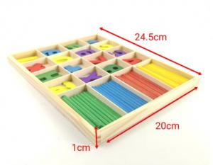 Jucărie Montessori din lemn - Numărare cu cifre și bețe [1]