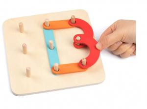 Placa Montessori Geoboard din lemn [3]