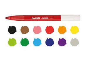 Carioci lavabile 12 culori/set Carioca Jumbo [1]