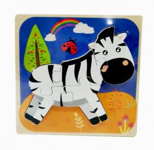 Puzzle din lemn 3D Zebra [0]