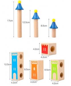 Joc de logica si constructie Castel din lemn [1]