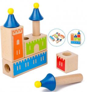 Joc de logica si constructie Castel din lemn [0]