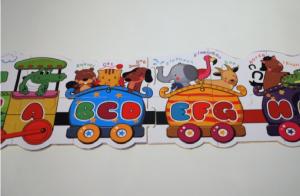 Puzzle trenulet cu litere si animale [2]