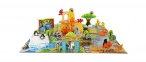 Masa de joacă, din lemn - Grădina zoologică [3]
