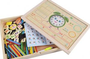 Tăbliță magnetică 4 în 1: Cifre și operații aritmetice, Puzzle magnetic, Ceas și whiteboard [3]