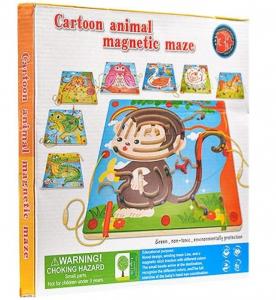 Labirint magnetic din lemn cu animale [2]
