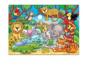 Puzzle cu activități Cine este în junglă? [0]