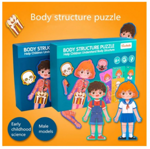 Puzzle din lemn Corpul uman - Baietel [3]