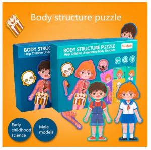 Puzzle din lemn Corpul uman - Fetita [0]