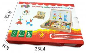 Tăbliță magnetică 4 în 1: Cifre și operații aritmetice, Puzzle magnetic, Ceas și whiteboard [4]