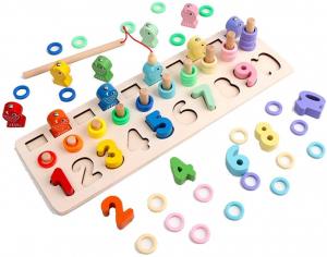 Tablă educațională tip Montessori 3 în 1 [0]