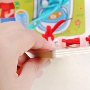 Joc Montessori lemn - Legarea sireturilor [4]