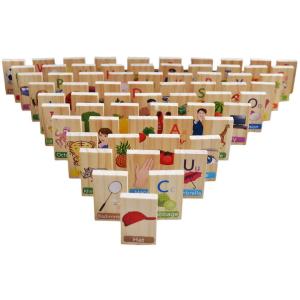 Joc educativ din lemn Domino în engleză [3]