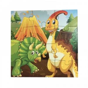 Puzzle din lemn 4 în 1 - Dinozauri [3]