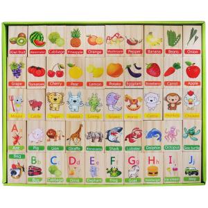 Joc educativ din lemn Domino în engleză [4]