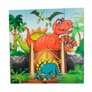 Puzzle din lemn 4 în 1 - Dinozauri [0]