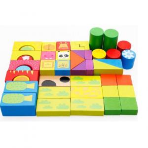 Set cuburi de lemn cu animale [0]