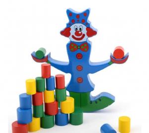 Jucărie din lemn Clovn-balanță [2]