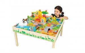 Masa de joacă, din lemn - Grădina zoologică [7]