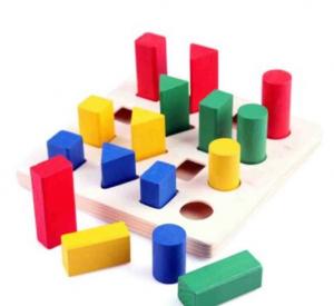 Puzzle lemn 3D Forme Geometrice Colorate [2]