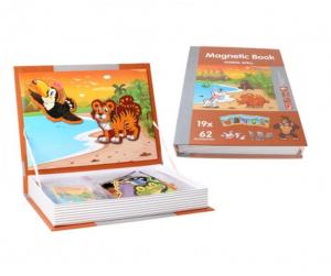 Carte magnetică cu piese puzzle Animale sălbatice [0]