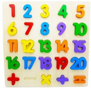 Puzzle din lemn Cifre și Operații matematice [0]