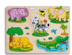 Puzzle din lemn 3D Animale Sălbatice [0]