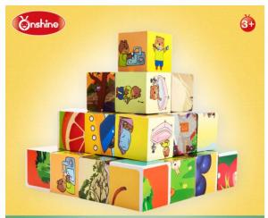Cuburi cognitive din lemn Asociere Activităti [2]