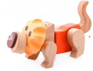 Puzzle 3D din lemn Leu [4]