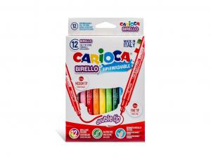 Carioca Birello - cu varf dublu Set 12 culori [0]