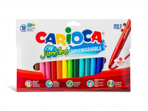 Carioci lavabile 18 culori/set Carioca Jumbo [0]