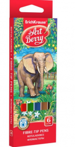 Carioci ArtBerry Washable Set 6 culori [0]