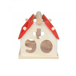Căsuță din lemn cu forme geometrice și cifre [1]