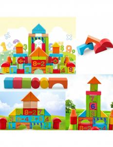 Cuburi din lemn, colorate, cu imagini [1]